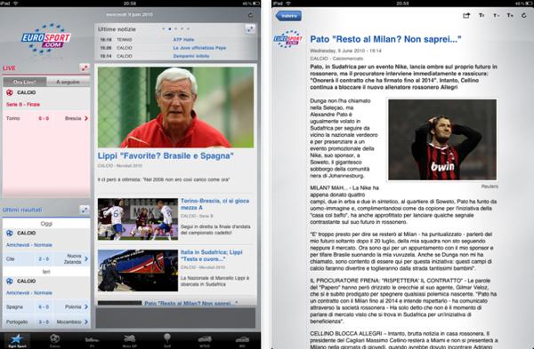 Eurosport per iPad