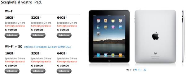 Tempi di consegna iPad