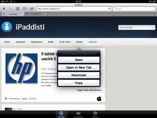 Downloads HD iPad