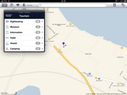 Download guide offmaps per iPad