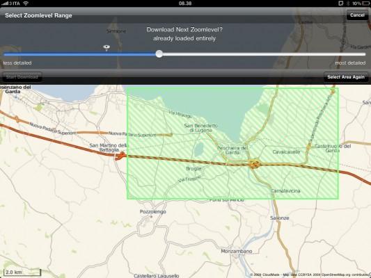 Mappe dettagliate offmaps su iPad