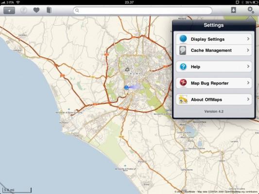Offmaps, mappe su iPad