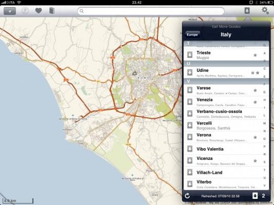 Navigazione mappe offmaps