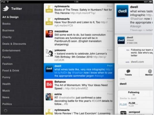Twitter su iPad