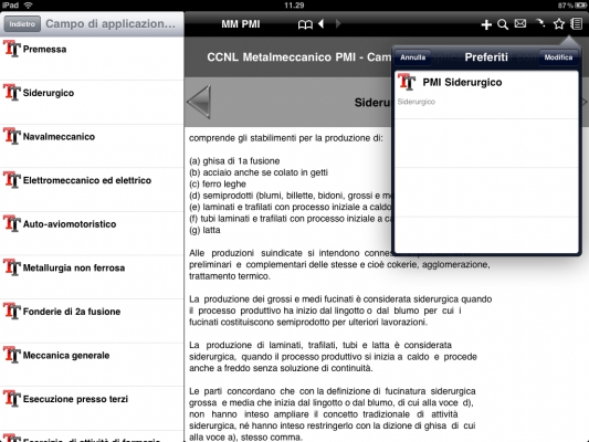 iCCNL HD per iPad