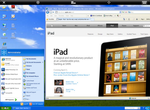 iTeleport iPad-Windows