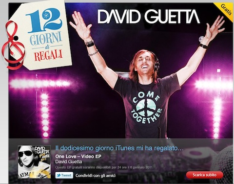 12 giorni di Apple, 12° regalo - David Guetta