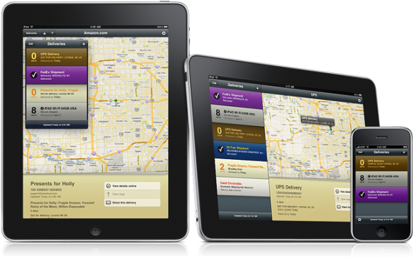 Delivery Status Touch per iPad
