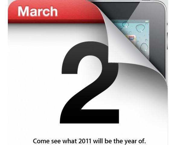 Apple iPad 2, è ufficiale la presentazione il 2 marzo