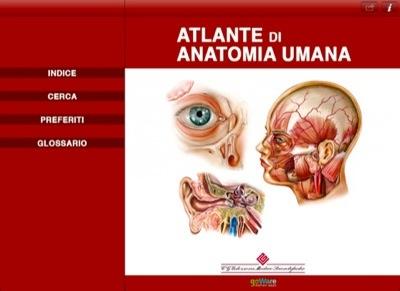 """Indice de """"Atlante di Anatomia Umana"""""""