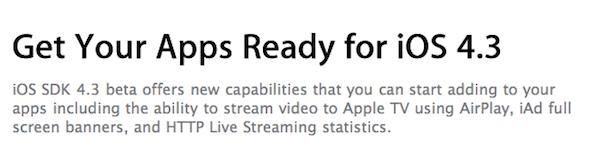 Firmware Apple iOS 4.3