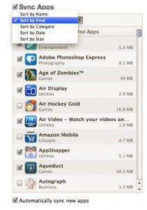 Sincronizzazione applicazioni iPad