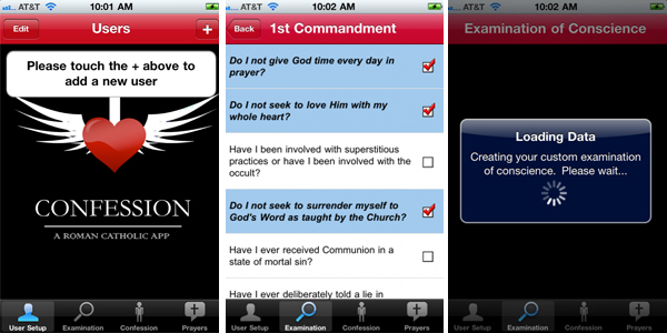 Screenshot Confession: a Roman Catholic App per iPad