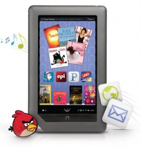 Nook Color si aggiorna alla versione 1.2 e diventa un tablet PC