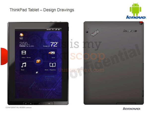 Lenovo ThinkPad, nuovo tablet da 10.1 pollici con Android 3.0 Honeycomb