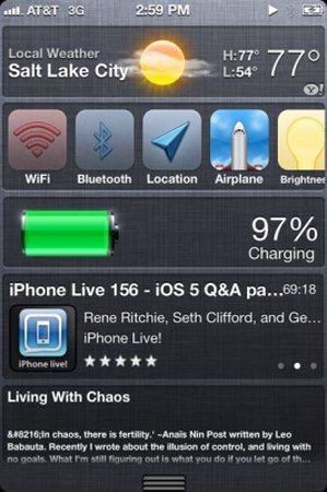 Apple iOS 5.0 Beta, guida personalizzazione dei Widget
