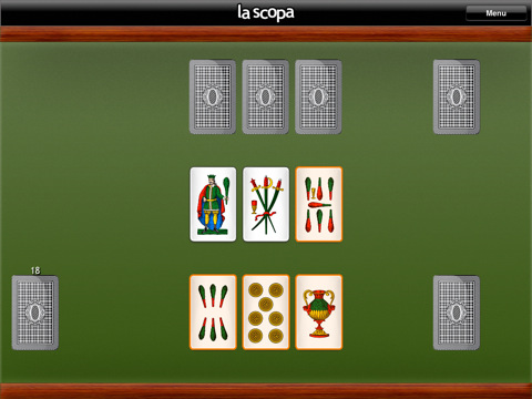 auto ve gioco di carte scopa
