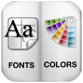 Fonts And Colors Reference for designer's per iPad