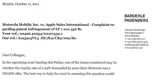 Motorola chiede il 2,25% sulle vendite di Apple per le licenze 3G