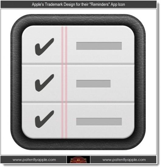 Apple ha chiesto il brevetto per l'icona Promemoria di iOS 5.0