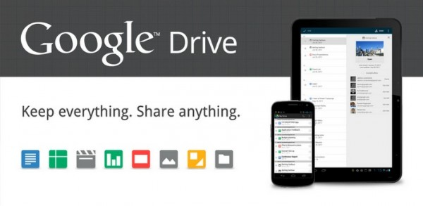 Google Drive disponibile su PC, Mac e Android