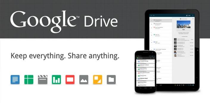 Google Drive disponibile su PC, Mac e Android