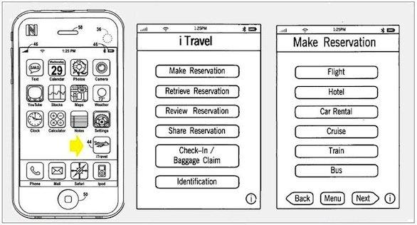 Apple iTravel, brevetto sui viaggi e l'utilizzo del chip NFC