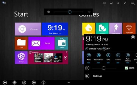 Samsung Galaxy Tab 10.1 con l'interfaccia Metro di Windows 8