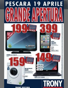 Apple iPhone 4S in offerta a 399 euro al nuovo Trony di Pescara