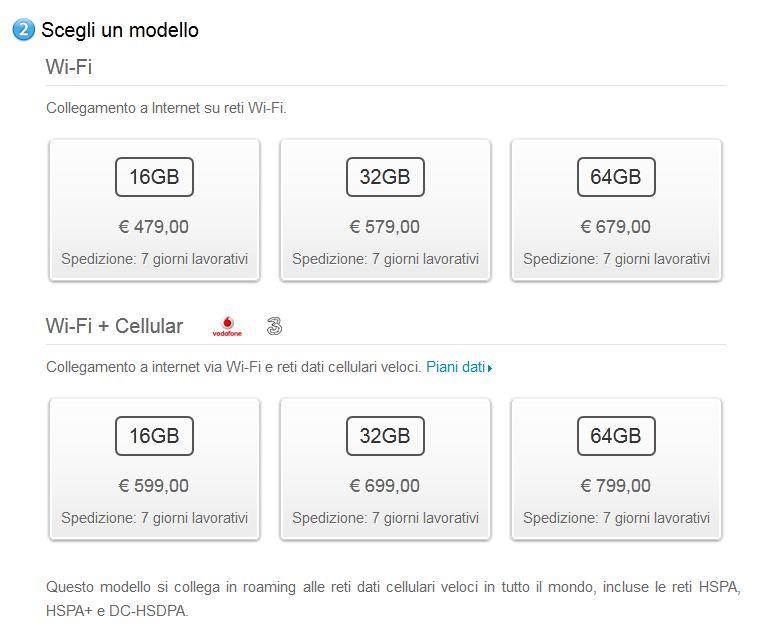 Apple toglie il suffisso Wifi+4G del nuovo iPad anche in Italia