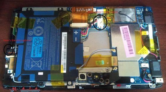 Acer Iconia Tab A100: ecco com'è fatto dentro