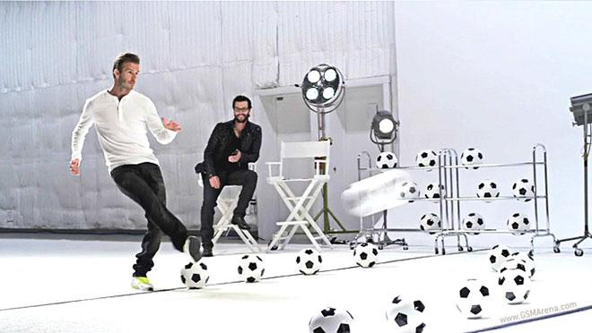 David Beckham firma per i nuovi spot pubblicitari del Samsung Galaxy Note