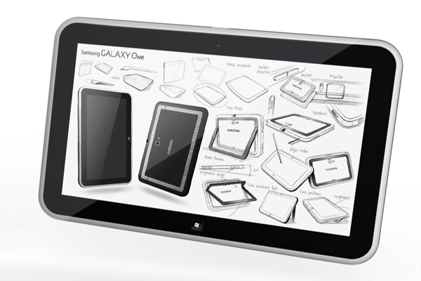 Samsung Galaxy One: concept di un tablet con proiettore e Windows 8