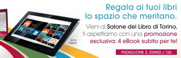 Sony Tablet S: in regalo 4 eBook alla Fiera del Libro 2012 di Torino