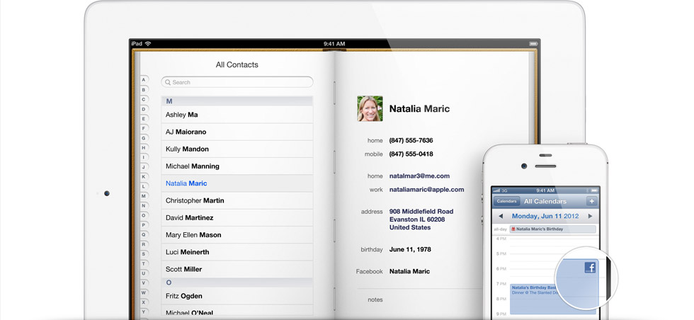 Apple iOS 6.0: arriva l'integrazione completa con Facebook