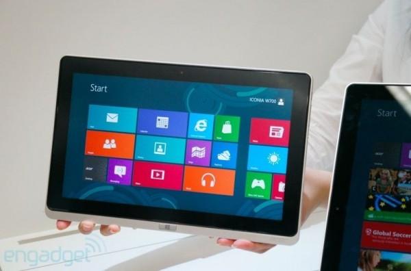 Acer Iconia Tab W700: tablet Windows 8 con chipset Intel Ivy Bridge
