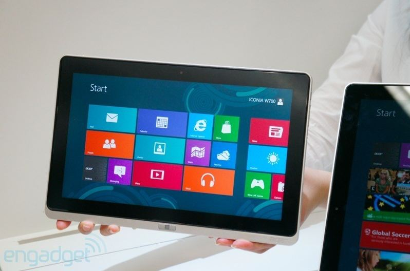 Acer Iconia Tab W700: tablet Windows 8 con chipset Intel Ivy Bridge