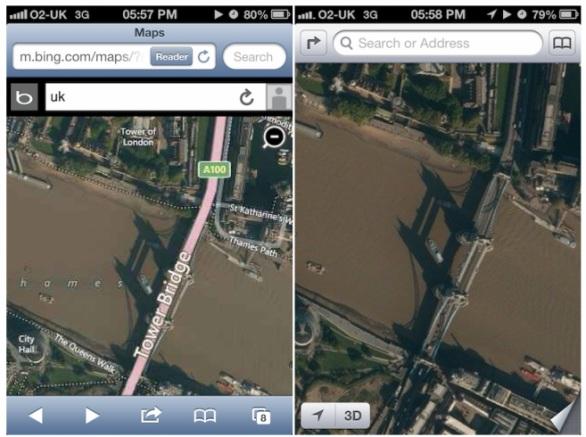 Apple iOS 6: le nuove Mappe si basano anche sul database di Bing