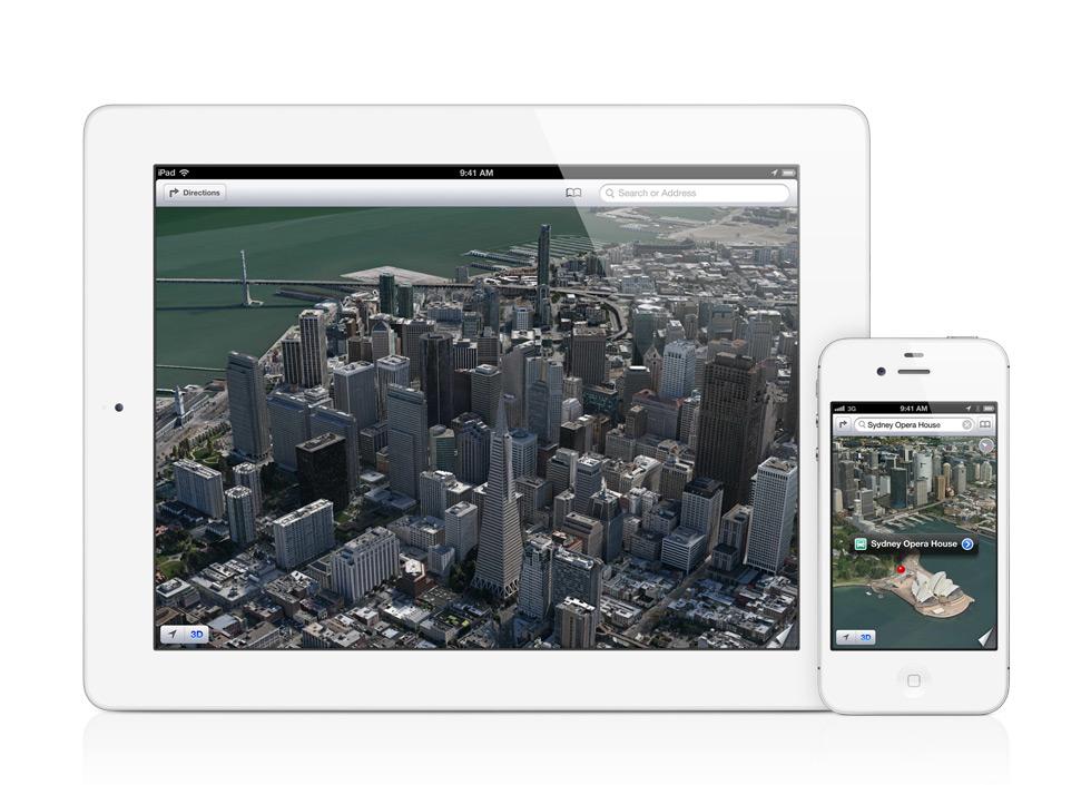 Apple iOS 6.0: l'app Mappe diventa 3D e abbandona Google Maps