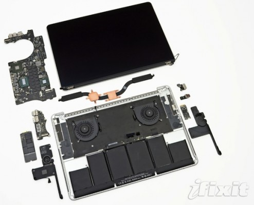 Il nuovo Macbook Pro con Retina Display smontato da iFixit