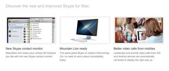 Skype per Mac si aggiorna alla versione 5.8, con supporto a Mountain Lion