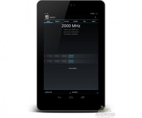 Google Nexus 7: overclock del processore a ben 2 Ghz