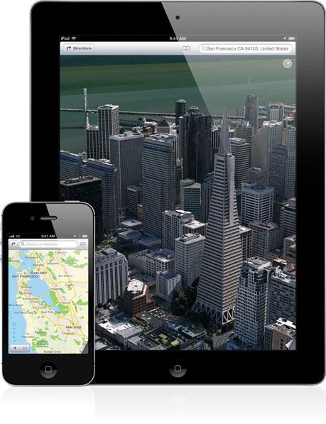 Apple ha intenzione di rimuovere completamente Google Maps da iOS 6