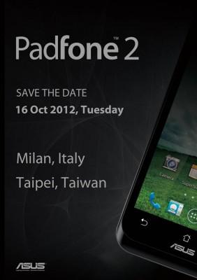 ASUS Padfone 2 verrà presentato a Milano il prossimo 16 Ottobre