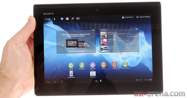 Sony Xperia Tablet S: video sul funzionamento dell'interfaccia