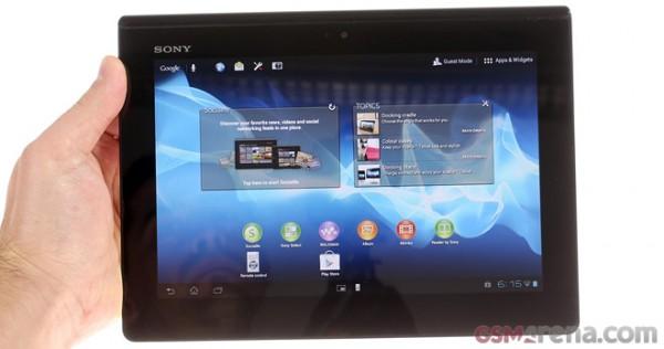 Sony Xperia Tablet S: video sul funzionamento dell'interfaccia