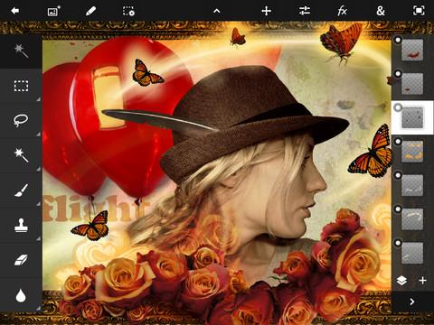 Photoshop Touch si aggiorna per il Retina Display del nuovo iPad