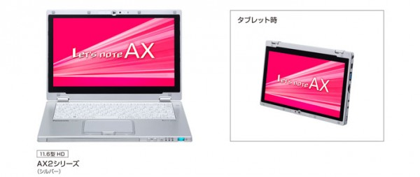 Panasonic Toughbook AX2: nuovo ibrido tablet e notebook con Windows 8