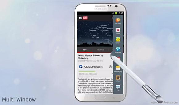 Samsung Galaxy Note 2: video della nuova modalità multitasking
