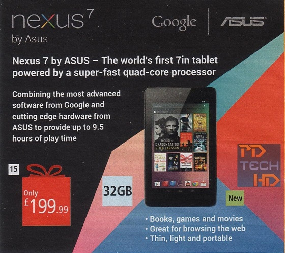Google Nexus 7: il modello da 32 GB costerà come quello da 16 GB